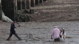Bird watching tourists rescued from mud in Thailand