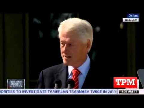 Bill Clinton Draws Laughs In Bush Library Speech