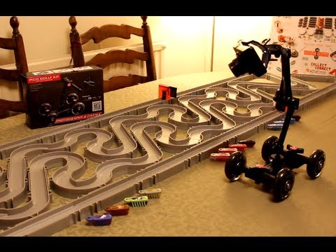 PICO Dolly Kit - Review & Demo - Behind the Scenes Action Tracking movie - HexBug Nano Raceway