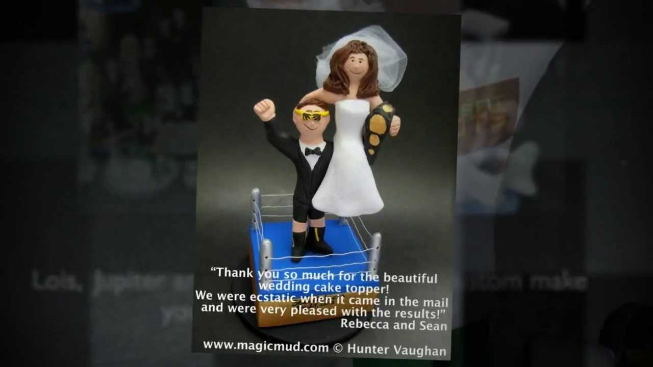 Wrestling Wedding Cake Toppers