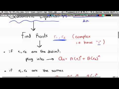 Discrete Math 2 - Tutorial 26 - Complex Roots Recur Relation