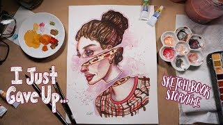 My Ex Was EMBARRASSED Of My Art | Sketchbook Storytime/HeART To HeART | Emily Artful