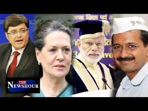 PM Modi's Degree: Arvind Kejriwal Supports 'Gandhis': The Newshour Debate (10th May 2016)
