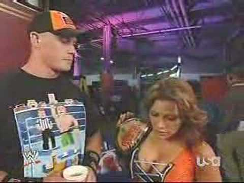 Mickie James asks John Cena out 5/12/08