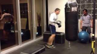Treino de boxe com preparo fsico Velocidade  fora