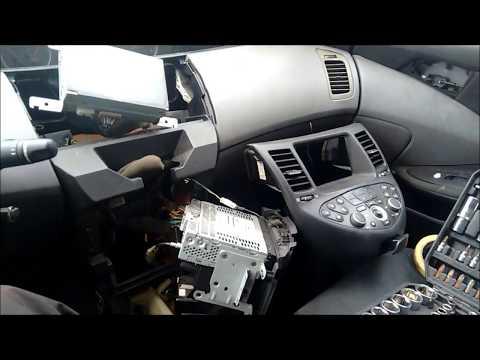 NISSAN PRIMERA P12 RADIO CD NAVI DISPLAY REMOVE demontaż abbau