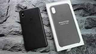 Black Apple Leather Case    iPhone XS Max