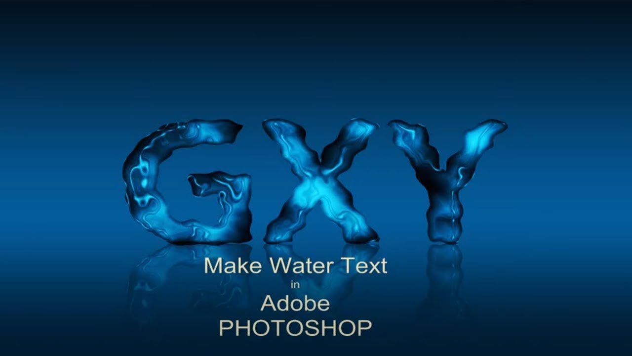 Photoshop Text Effects Water Water Text Effects Tutorial in