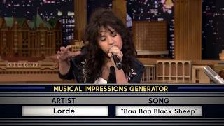 Wheel Of Musical Impressions With Alessia Cara Lorde