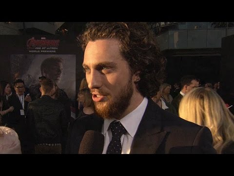 Aaron Taylor-Johnson Talks Working with James Spader At Avengers 2 Premiere