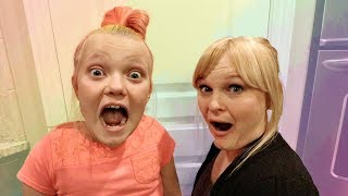 CRAZY COLORFUL HAIR PRANK WITH SHNOOKS!
