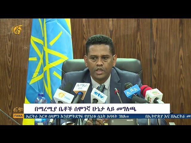 Government Spokesman Kassahun Gofe's Press Release