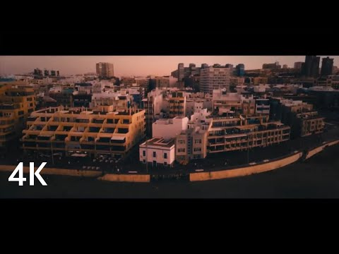 Las Palmas from the sky/ Cinematic 4K drone Parrrot Anafi film/Canary Islands from above