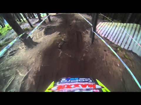 CTM Racing Team IXS european downhill cup Schladming 2014- helmet cam