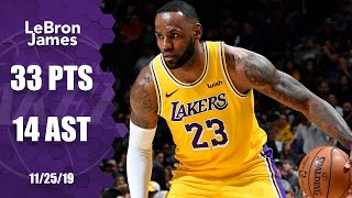 LeBron James takes over with 33 points and 14 assists in Lakers vs. Spurs | 2019-20 NBA Highlights