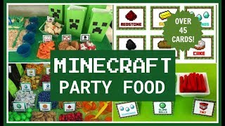 Best Minecraft Party Food Ideas