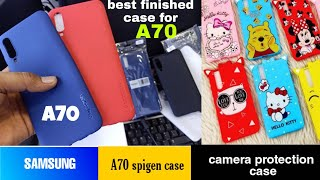 Samsung Galaxy a70 spigen case with camera protection ring | galaxy a70 case|