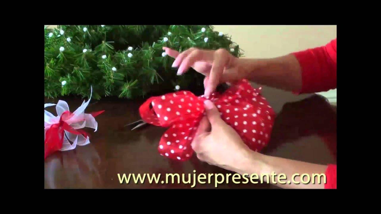 C mo hacer una corona de navidad con dulces youtube - Como hacer coronas de navidad ...