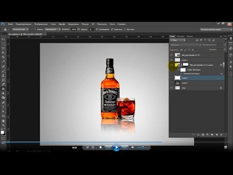 Как сделать в фотошопе отражение на полу