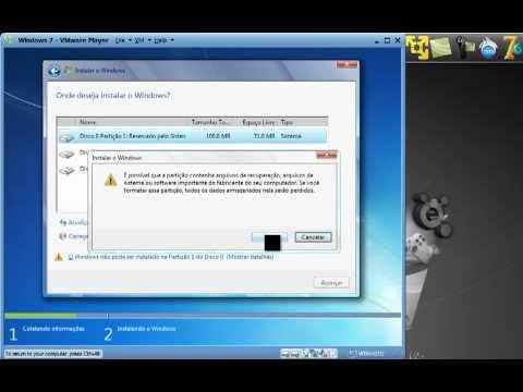 Reinstalando o Windows 7 sem perder arquivos