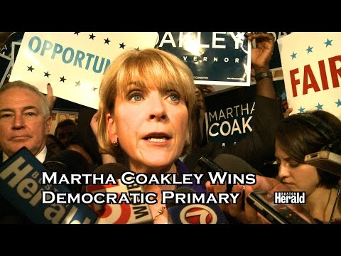 Martha Coakley wins Democratic Primary for Mass. Governor