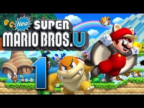 Let's Play New Super Mario Bros U Part 1: Super Mario Bros in High Definition