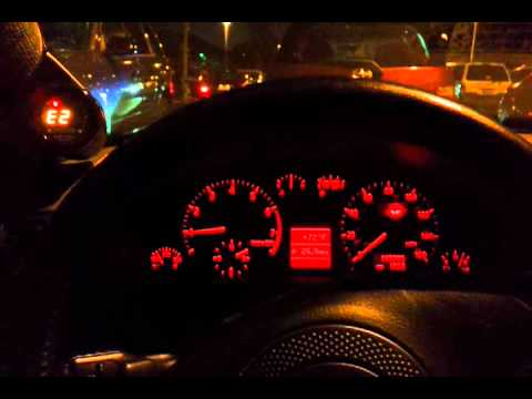 B5 A4 Oil Pressure Gauge retrofitted into instrument cluster - YouTube
