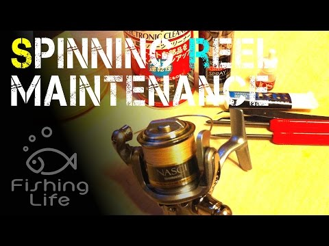 [Spinning reel maintenance] リールのメンテナンスは大切ですね