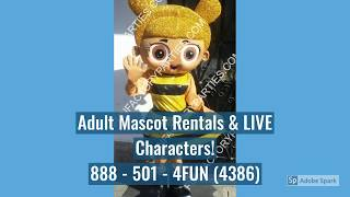 LOL Dolls Birthday Party Characters | LOL Dolls Adult Mascot Costume Rentals