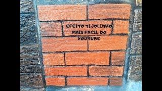 pintura efeito tijolinho - como fazer parede efeito tijolo