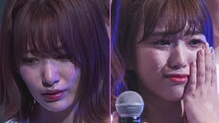 IZ*ONE Miyawaki Sakura and Nako's tears at their final concert as HKT48 before hiatus