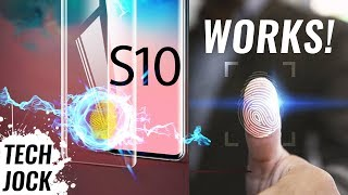 BEST Tempered Glass for Galaxy S10+ at ₹765 - Fingerprint Scanner Works!🔥