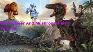 ARK Survival Evolved-Rare Flower And Mushroom Farm-Tutorial-*EASY*