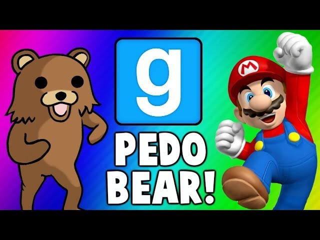 Gmod Escape PedoBear - Super Mario Tryout Frustration Garrys Mod Funny Moments  Fails