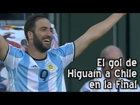 Mirá cómo hubiera sido si la pelota entraba cuando Higuaín tuvo el mano a mano en la final con Chile