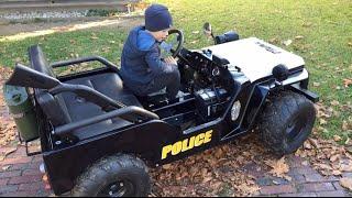 Little Heroes POLICE JEEP for Kids! CHILDREN MOTOR JEEP driven by little Boy (3)