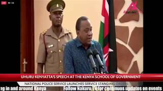 President Uhuru Kenyatta kicks out journalists from National Police Service event