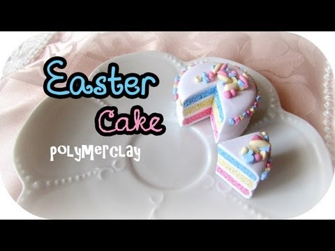 Easter Cake (◕▾◕) Polymer Clay tutorial