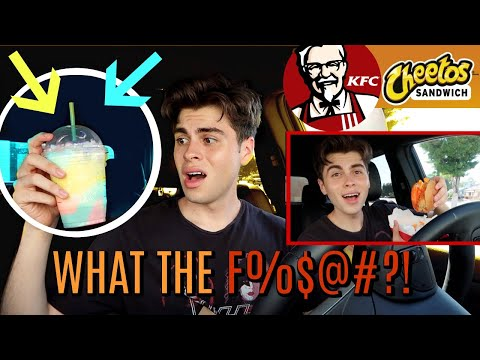Trying NEW KFC Cheetos Sandwich + MORE!!!