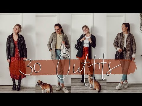 30 OUTFITS in 5 MINUTEN | Herbst-Inspiration