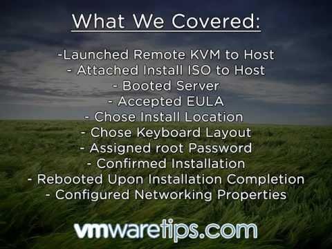 Install VMware ESXi 5.0 in Under 5 Minutes