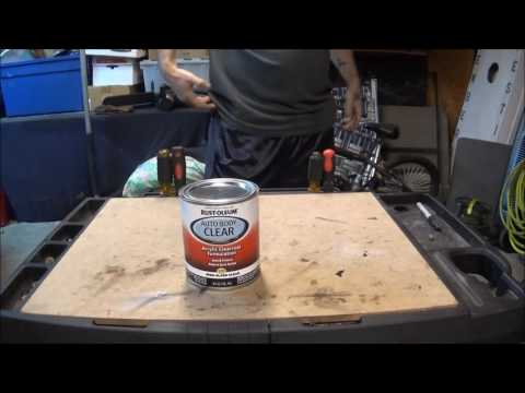 rustoleum auto body clear coat quart review