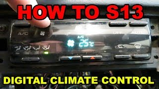 240SX S13 Digital Climate Control Full Wiring Guide