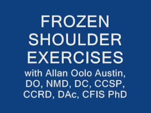 FROZEN SHOULDER EXERCISES pt 2 with Dr. O (Dr. Allan Oolo Austin). Founder of the OAT Procedure