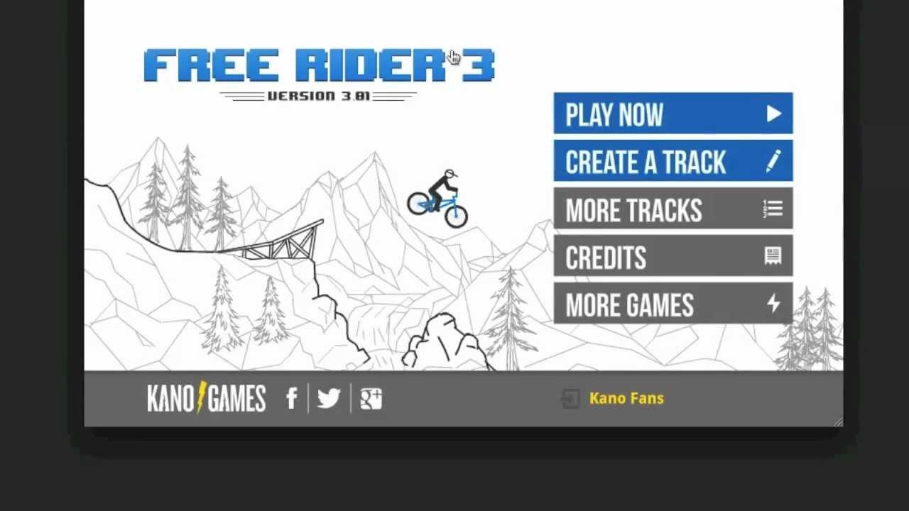 free rider 3 kano games