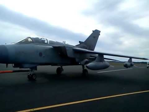 Sport Relief 2012 – Pulling a Tornado GR4 for one mile.