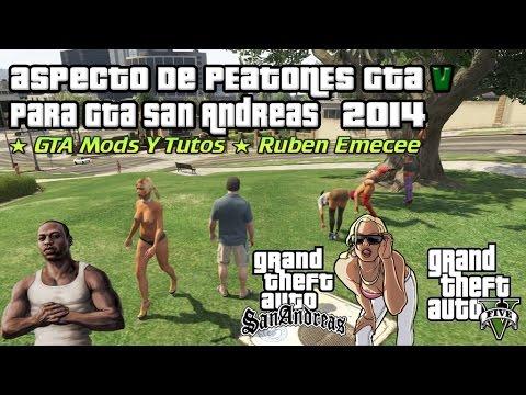 Descargar Aspecto De Peatones Del GTA V Para Gta San Andreas 2014 HD