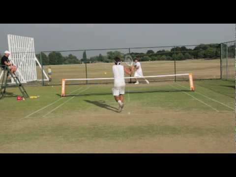 Highlights of Chris Eaton and Elliott Mould in the £750.00 touchtennis Slazenger All England held at Home Park Lawn Tennis Club.