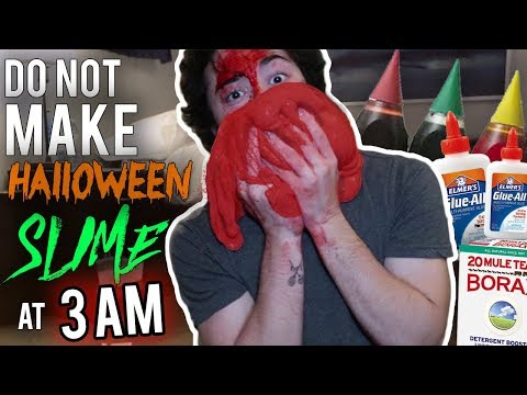 DO NOT MAKE HALLOWEEN SLIME AT 3AM!! *GOES TERRIBLY WRONG*