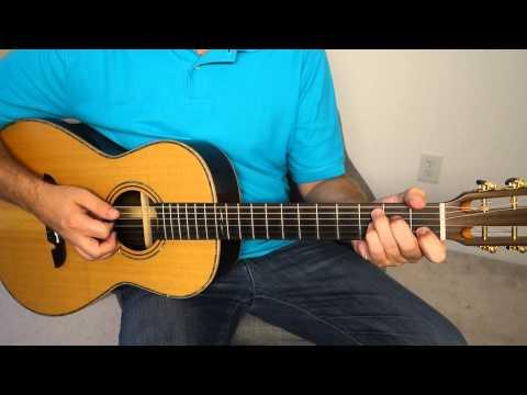Easy acoustic blues rhythm - guitar lesson.  Very basic - BLG001